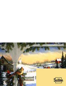 Sutton Greeting Cards Landscape Template: 304002