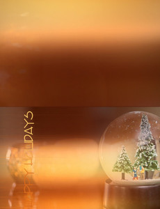 Holiday Greeting Cards Landscape Template: 603179