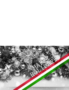 Holiday Greeting Cards Landscape Template: 580203