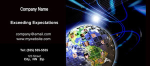 Button to customize design Globes - World Flyers Template: 328242