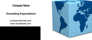 Button to customize design Globes - World Flyers Template: 328250