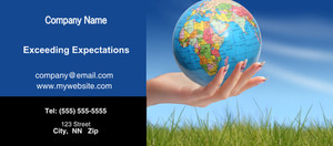 Button to customize design Globes - World Flyers Template: 328186