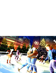 New Holiday Season Greeting Cards Landscape Template: 299867