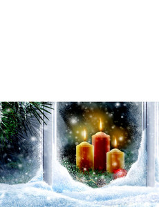 New Holiday Season Greeting Cards Landscape Template: 299628