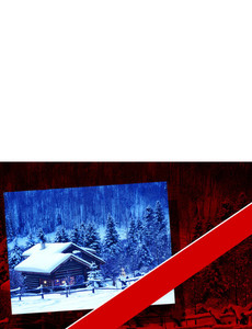 New Holiday Season Greeting Cards Landscape Template: 299793