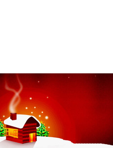 New Holiday Season Greeting Cards Landscape Template: 298997