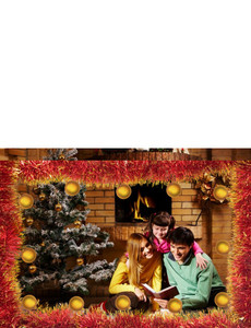 Button to customize design Family Portraits Greeting Cards Landscape Template: 327463