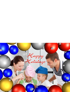 Family Portraits Greeting Cards Landscape Template: 327475