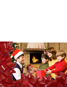 Family Portraits Greeting Cards Landscape Template: 327477
