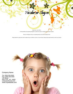Hairdressers - Stylists Brochure Flyers Portrait Template: 342697