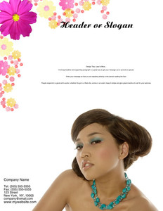 Hairdressers - Stylists Brochure Flyers Portrait Template: 342715