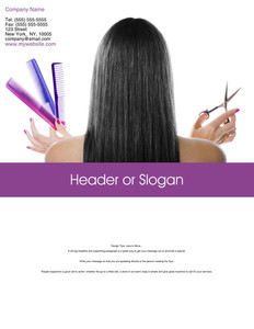 Hairdressers - Stylists Brochure Flyers Portrait Template: 342705