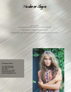 Hairdressers - Stylists Brochure Flyers Portrait Template: 342707