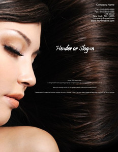 Button to customize design Hairdressers - Stylists Brochure Flyers Portrait Template: 342719
