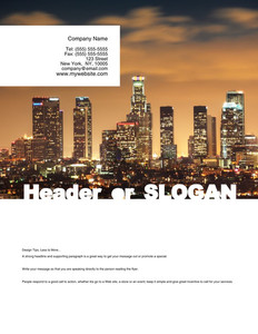 All City Panorama Brochure Flyers Portrait Template: 354683