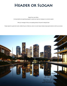 All City Panorama Brochure Flyers Portrait Template: 354684