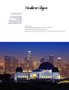 All City Panorama Brochure Flyers Portrait Template: 354685