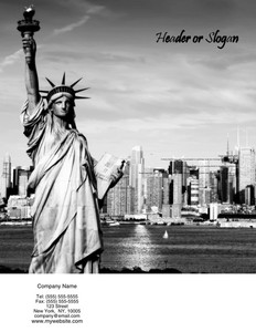 All City Panorama Brochure Flyers Portrait Template: 354686