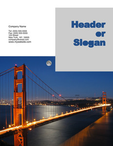 All City Panorama Brochure Flyers Portrait Template: 354675
