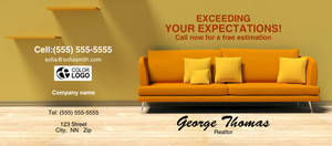 Button to customize design Living room Flyers Template: 311350