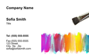 Top Picks Arts Business Cards Credit Card Template: 354478