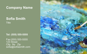Top Picks Arts Business Cards Credit Card Template: 354479