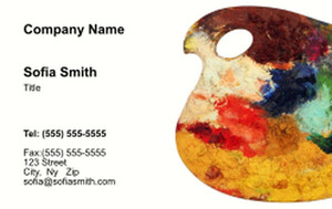Top Picks Arts Business Cards Credit Card Template: 354467