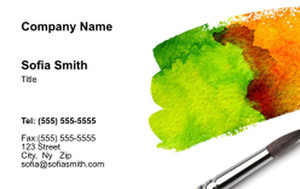 Top Picks Arts Business Cards Credit Card Template: 354475