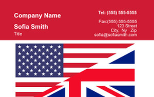 USA Business Cards Credit Card Template: 335876