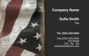 USA Business Cards Credit Card Template: 335877