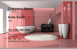 Washroom Business Cards Credit Card Template: 328809