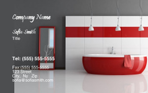 Washroom Business Cards Credit Card Template: 328826