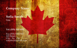 Canada Business Cards Credit Card Template: 335868