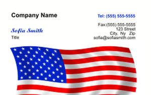 USA Business Cards Credit Card Template: 335870