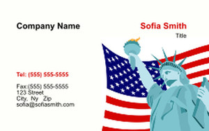 USA Business Cards Credit Card Template: 335871