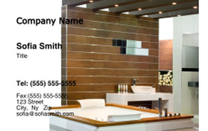 Washroom Business Cards Credit Card Template: 328037