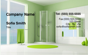 Washroom Business Cards Credit Card Template: 328085