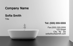 Washroom Business Cards Credit Card Template: 328053