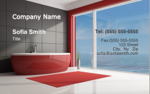 Washroom Business Cards Credit Card Template: 328069