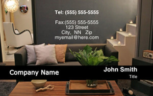 Living room Business Cards Credit Card Template: 319619