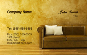 Living room Business Cards Credit Card Template: 319608