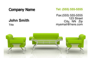 Living room Business Cards Credit Card Template: 319666