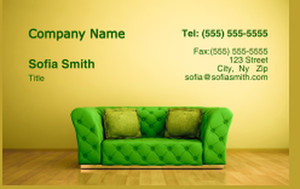 Living room Business Cards Credit Card Template: 327989
