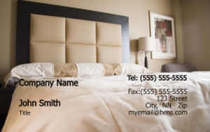 Bedrooms Business Cards Credit Card Template: 319626