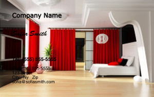 Bedrooms Business Cards Credit Card Template: 327789