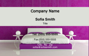 Bedrooms Business Cards Credit Card Template: 327813