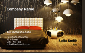 Bedrooms Business Cards Credit Card Template: 327869