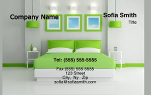 Bedrooms Business Cards Credit Card Template: 327797