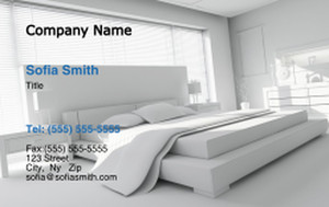 Bedrooms Business Cards Credit Card Template: 327837