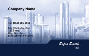 All City Panorama Business Cards Credit Card Template: 335862